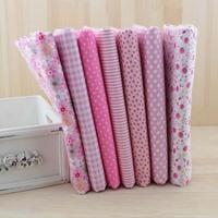 7 pcs 50x50cm Pink mixed color cotton cloth  handmade diy patchwork fabric sewing cloth Fat Quaters Quilting Fabric Tilda cloth