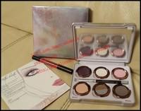 2014 New - 10 pcs the glinda 6 colors eyeshadow palette , a lip pencil , a eye pencil makeup! happy-shopping