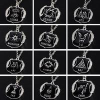 Korean Fashion Combination EXO 12 Members LU HAN KRIS CHAN YEOL LAY CHAN YEOL KAI TAO SE HUN Pendant Long Necklaces Wholesale