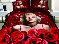 Marilyn Monroe bedding set 100% cotton bedding  Quilt comforter cover duvet sets sheet luxury Titanic bedclothes