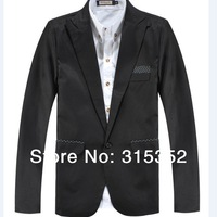2014 fashion Autumn Korean  men's patchwork   business suit office suit jacket  men's casual suit  6 sizes blazer