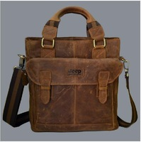 Famous Brand Vintage bag for men Luxury Crazy Horse Leather handbags Fashion Business Briefcase for Gentlemen