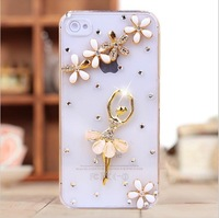 New 2013 Bling Diamond Rhinestone Crystal Hard Back Cover Skin Case For Apple Iphone 5 5s Iphone 4 4s Case