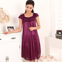Dry modern sleepwear viscose women's nightgown short-sleeve summer plus size plus size lounge