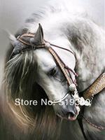2014 new needlework diamond painting pasted painting full drill diamond painting fashion wall decorative horse 30*40cm