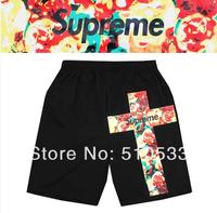 New Arrival Fashion Men's Beach Shorts Hip Hop Cross Printed Male Short Streetwear Swimwear Beach Suit Drop Ship