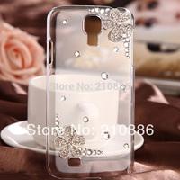 phone case covers for samsung galaxy s4 mini I9190 S4 I9500,bling rhinestone crystal blosom flower,3 design,free shipping