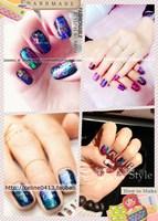 Cuicanduomu laser metal nail art 5 1 10 2  2014 free shipping