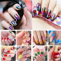 Leopard print nail art finger stickers nail polish glue watermark laser metal nail art  2014 free shipping