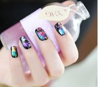 Colorful laser HARAJUKU metal nail art diy fashion  2014 free shipping