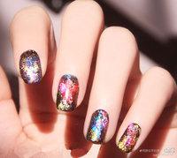 Nail art laser metal l colorful nail polish applique  2014 free shipping
