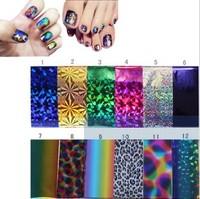 Nail art applique laser metal nail polish colorful 50cm oil  2014 free shipping