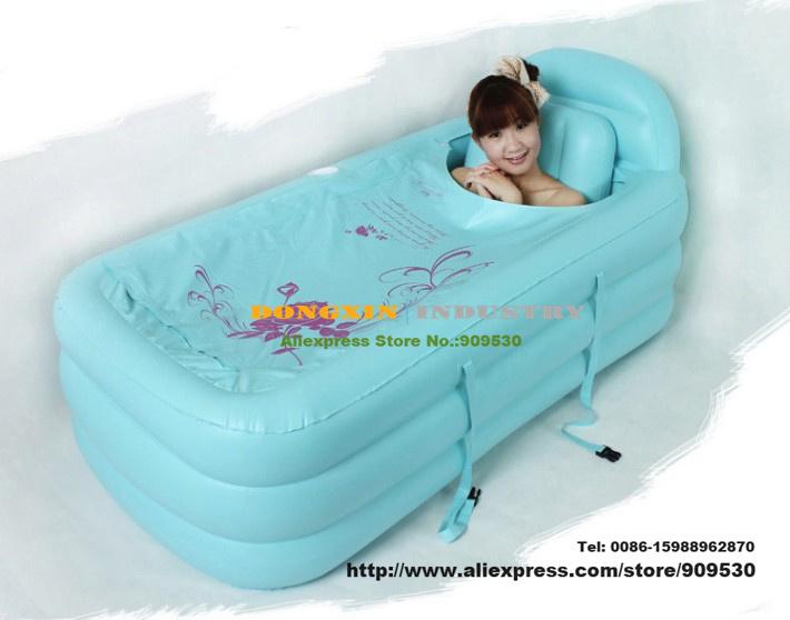 Tinas De Baño Inflables:Folding Inflatable Portable Bathtub Spa Tub