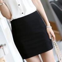 Women's slim hip short skirt step a-line skirt half-length woolen thickening bag skirt plus size