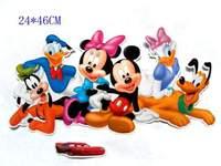 Free shipping ,Mickey,minnie,donald,datsy,pluto,goofy cartoon stickers(SH170)