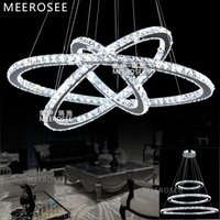 2014 Lustre Modern Crystal Chandelier Led Diamond Ring Crystal Chandelier Light Modern Circle Lamp / Lights Fixture Ready Stock