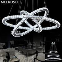 2014 Lustre Modern Crystal Chandelier Led Diamond Ring Crystal Chandelier Light Modern Circle Lamp / Lights Fixture Ready Stock