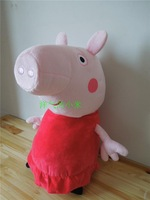Freeshipping 68cm big size Peppa pig and Gorge pig with toys 1pair/lot big size peppa pig plush doll new arrived