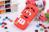 For Samsung i9190 Galaxy S4 mini Rubber M&M Fragrance Chocolate Case, for Samsung s4 mini M Rainbow Beans case, Free Shipping