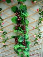 Artificial grape vine leaves 2.4 meters 30 fruit rattan grape vine leaves
