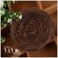 Handmade rattan bird nest accessories jewelry cosmetics photography props 58