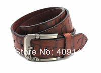 Fashion Vintage Luxury Men Belts Waist PU Leather Jean belts Pin Buckle letter Design Freeshipping