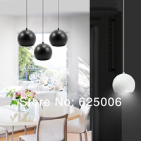 Dining Room lamps 5W 9W 12W 18W LED Restaurant droplight Pendant Lamp High Power +Spray paint, wrought iron body AC110-240v