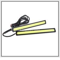 Free shipping 2pcs Super Bright COB Car LED Daytime Running Light 14cm LED Car DRL lamp Fog Driving Light