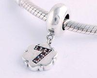 Yb064-7 925 pure silver beads pendant  jewelry bracelet  diy accessories digital 7