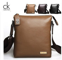 Free Shipping leather men business bag man bag diagonal woven leather shoulder bag briefcase computer