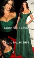 2014 New Fashion Cannes Film Festival Oscar Awards Apparel A-line Chiffon Long Elegant Celebrity Dresses Free Shipping MR032