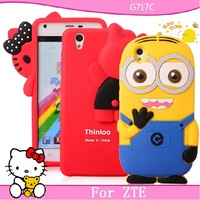 For zte g717c mobile phone case for zte g717c protective case silica gel set