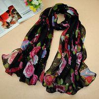 free shipping ladies printe viscose shawls rose flower scarf plain long muslim hear wrap winter/spring scarf/scarves 5pcs/lot