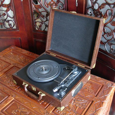 Free shipping Radio-gramophone turntable charge usb audio vinyl player(China (Mainland))