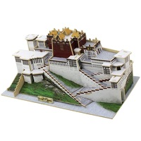 2015 Real Top Fashion Wood Buildings Unisex 1:60 Miniature Academia Three-dimensional Wooden Puzzle Model Toys Potala Palace