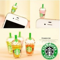 Starbucks Dust Plug for iphone and 3.5mm plug mobile phone mixed colors CYY079