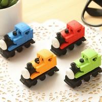 Free shipping,2014 Design Funny Cute Car Loco Locomotive Pencil Erase Rubber  Kid Student School Children Gift Toy Office Eraser