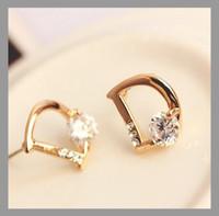 Earrings & Stud Earrings Trendy International Gold Plated/Silver Earrings,Rhinestone ,Austria Crystal Earrings For Women