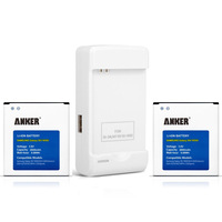 Anker 2 x 2600mAh Li-ion Replacement Battery for Samsung Galaxy S4 IV Galaxy S4, I9500, I9505, M919 with Anker Travel Charger