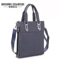 Hodginsii diamond genuine leather man bag elegant commercial leather bag