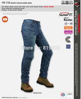 2014 New Arrival KOMINE PK-718 Jeans Super Fit Kevlar Denim Motorcycle ride jeans men 2color Women WS WM WL MOTO Race pants