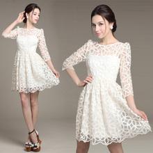 wholesale white lace dress