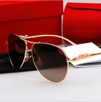2014 New High Quality Men Sunglasses women brand designer Leopard head UV  original box Sun glasses wholesale