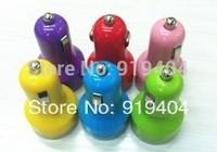 2100mAh Universal Color Dual USB Car Charger for iPhone 5S/5C/ Samsung I9500 Galaxy S4/iPad mini/iPad 4 wholesale 1000pcs/lot
