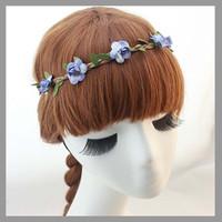 Hot Sale New Fashion Womens Bohemia Beach Flower Hair Bands Headband Hair Accessory 9 Colors Drop Shipping