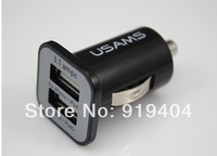 500pcs/lot *High quality 3.1A Double Dual USB Car Charger For all IPhone/ipod/ipad/samsung/all mobile phone*DHL free shipping