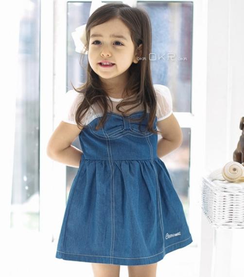 summer models CLA girls bow princess dress children(China (Mainland