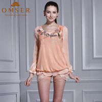 free shipping 2014 spring elegant pullover slim all-match o-neck long-sleeve top women's