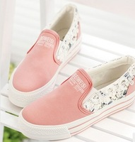 Free shipping 2014 Sponge thick bottom canvas shoes women's shoes slip-on students lazy leisure shoes flat