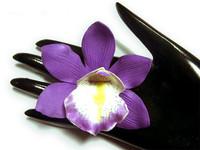 8x  Foam Floating Hawaiian Cymbidium Heads Artificial Flower 2.75  inches  6 CHOOSE COLOR
